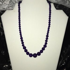 Jewelry - 3=$21 Deep Purple Pearl Strand Necklace